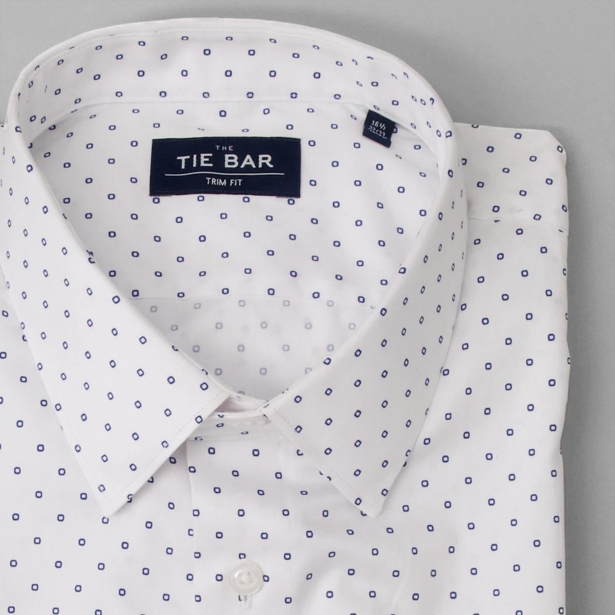 Men/'s 100/% Cotton Polka Dot Design Dress Shirt Black//White White//Navy Size 15~20