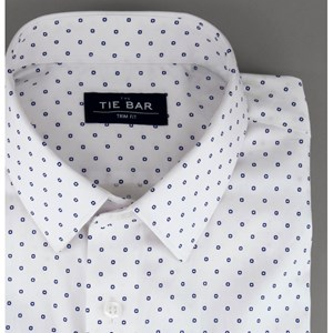 printed dot white dress shirt