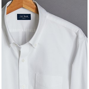 the modern-fit oxford white casual shirt