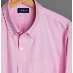 the modern-fit oxford pink casual shirt