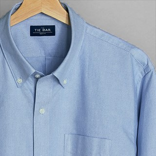 The Modern-Fit Oxford Light Blue Casual Shirt