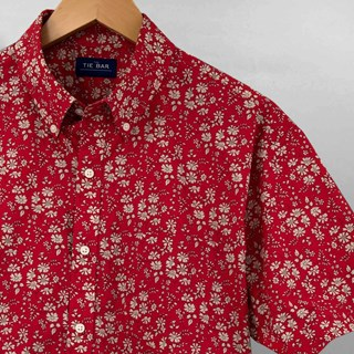 Liberty Capel Floral Red Short Sleeve Shirt