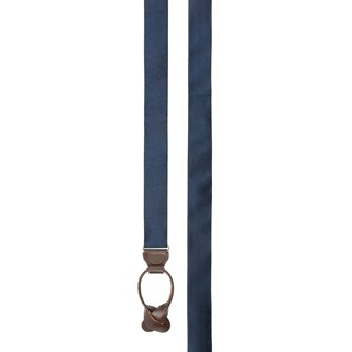 solid satin midnight navy suspenders