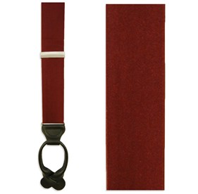Solid Satin Burgundy Suspenders