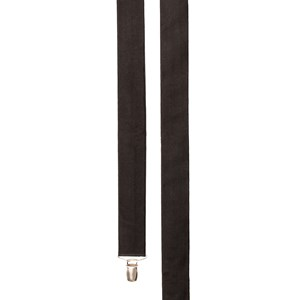 solid satin black suspenders