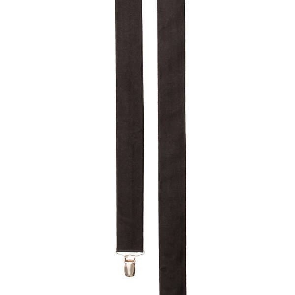Black Solid Satin Suspender