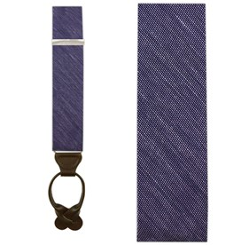 Deep Purple Sand Wash Solid suspenders