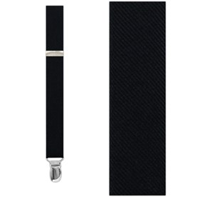 Black Grosgrain Solid suspenders