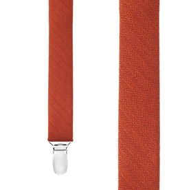 Orange Astute Solid suspenders