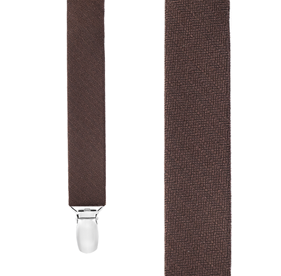 Chocolate Astute Solid suspenders
