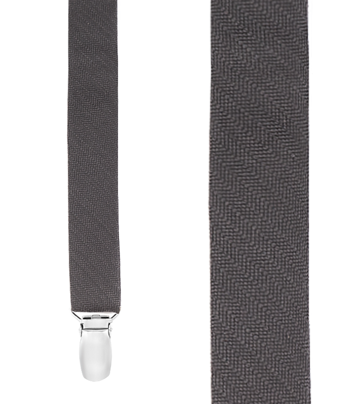 Astute Solid - Charcoal - 0.75 in. Wide (Skinny) - Clip Style - Accessories