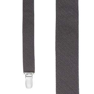 astute solid charcoal suspenders