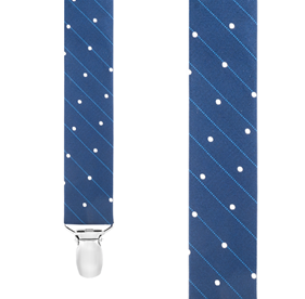 RINGSIDE DOTS NAVY SUSPENDERS