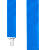 Suspenders - Solid Satin - Royal Blue