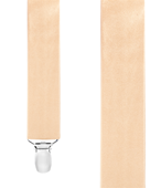Suspenders - Solid Satin - Light Champagne