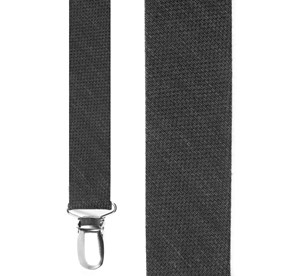 Black Festival Textured Solid suspenders