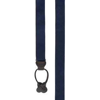 festival textured solid navy suspenders