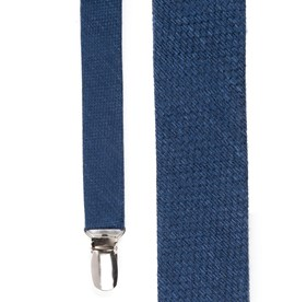 Navy Festival Textured Solid suspenders