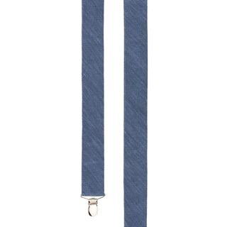 festival textured solid slate blue suspenders