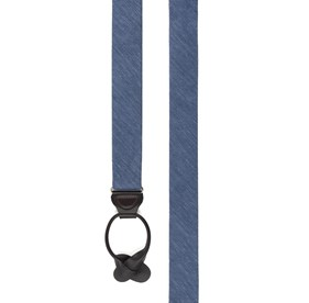 Slate Blue Festival Textured Solid suspenders
