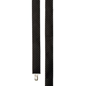 mini dots black suspenders