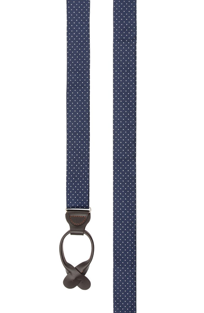 Mini Dots - Navy - 1.25 in. wide - Loop Style - Accessories