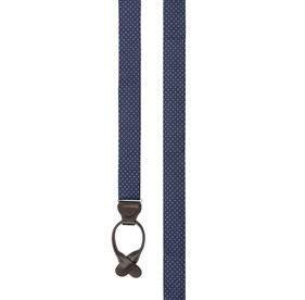 Mini Dot Navy Suspenders
