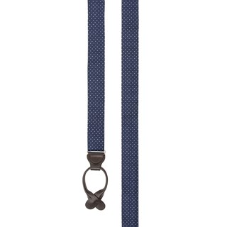 mini dots navy suspenders