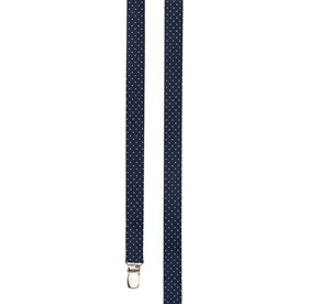 Navy Mini Dot suspenders