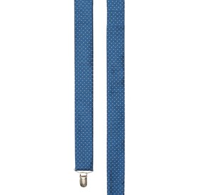 Mini Dot Classic Blue Suspenders