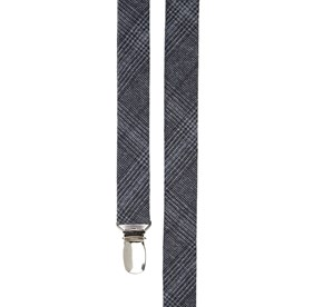 Walker Plaid Navy Suspenders
