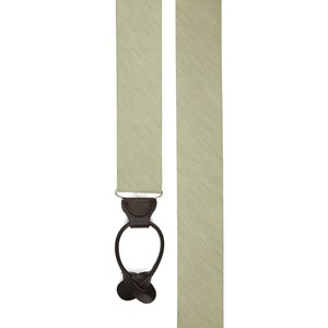 linen row sage green suspenders
