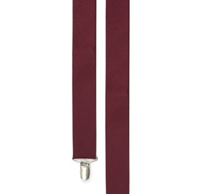 Burgundy Grosgrain Solid suspenders