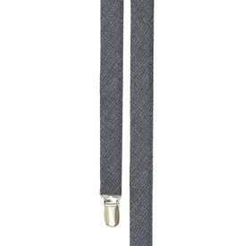 Grey Basketweave Solid suspenders