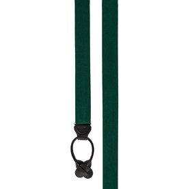 Hunter Green GROSGRAIN SOLID suspenders