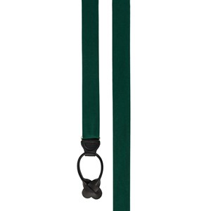 grosgrain solid hunter green suspenders
