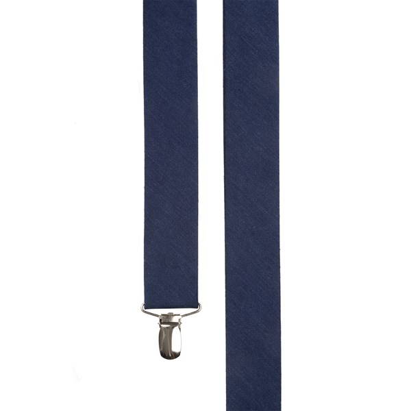 Navy Linen Row Suspender