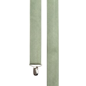 grosgrain solid sage green suspenders