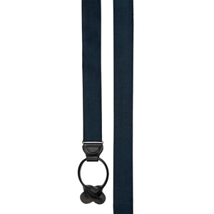 solid satin navy suspenders