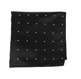Black Satin Dot pocket square