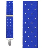 Suspenders - Hot Dots - Royal Blue