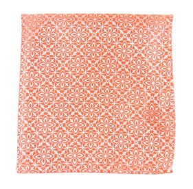 Coral Opulent pocket square