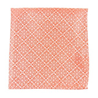 Opulent Coral Pocket Square