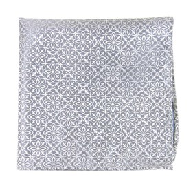 Silver Opulent pocket square