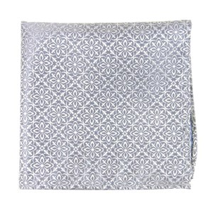 opulent silver pocket square