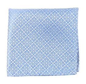 Light Blue Opulent pocket square