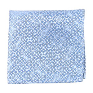 opulent light blue pocket square