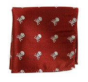 Pocket Squares - SKULL AND CROSSBONES - RED