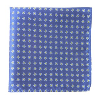 Anemones Cornflower Blue Pocket Square