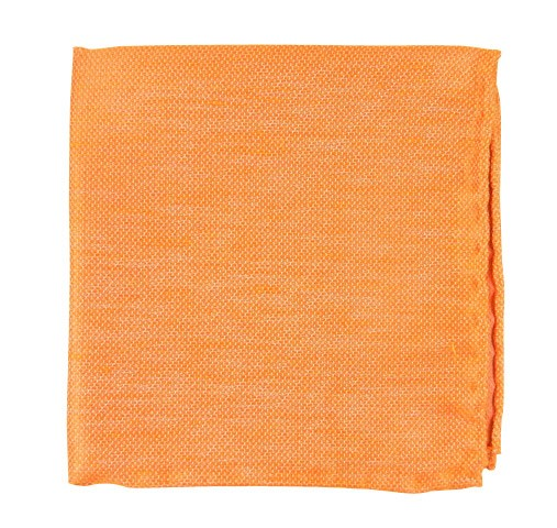 Tangerine Solid Linen Pocket Square Men S Pocket Squares